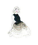 Dior does Ombre Giclee Print by Jessica Durrant