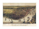 The City of New Orleans, Louisiana, 1885 Giclee Print by  Currier & Ives