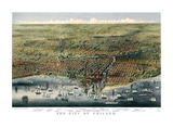 The City of Chicago, Illinois, 1874 Giclee Print by  Parsons and Atwater