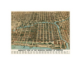 Bird's Eye View of the Business District of Chicago, 1898 Giclee Print by  Poole Bros.