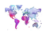 Watercolor Map No. 7 Giclee Print by Jessica Durrant