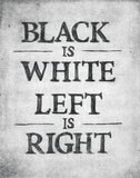 Black is White Posters by  Urban Cricket