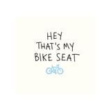 Bike Seat Giclee Print by  Urban Cricket
