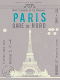 Ticket to Paris Prints by  The Vintage Collection