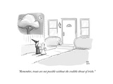 """Remember, treats are not possible without the credible threat of tricks."" - Cartoon Regular Giclee Print by Paul Noth"