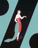 Evening Dresses and Curtains I Prints by  Erté