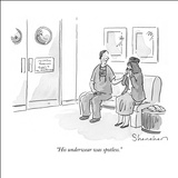 """His underwear was spotless."" - New Yorker Cartoon Stretched Canvas Print by Danny Shanahan"