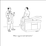 """Whoa—way too much information."" - New Yorker Cartoon Stretched Canvas Print by Alex Gregory"