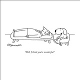 """Well, I think you're wonderful."" - New Yorker Cartoon Stretched Canvas Print by Charles Barsotti"