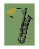 Sax Chick Prints by Jason Laurits