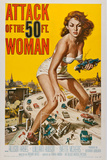 Attack of the 50 Foot Woman Movie Poster Print