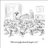 """This isn't really about the beagles, is it."" - New Yorker Cartoon Stretched Canvas Print by Paul Noth"