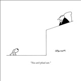 """You can't plead cute."" - New Yorker Cartoon Stretched Canvas Print by Charles Barsotti"