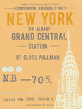 Ticket to New York Poster by  The Vintage Collection
