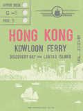 Ticket to Hong Kong Prints by  The Vintage Collection
