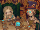 Alice and the Mad Hatter Prints by Jasmine Becket-Griffith