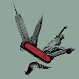 NYC Knife Posters by Jason Laurits