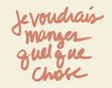 Je voudres Print by  Urban Cricket