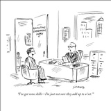 """I've got some skills—I'm just not sure they add up to a 'set.'"" - New Yorker Cartoon Stretched Canvas Print by David Sipress"