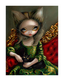 Princess with a Black Cat Posters by Jasmine Becket-Griffith