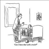 """Can I have that with a twist?"" - New Yorker Cartoon Stretched Canvas Print by Chon Day"