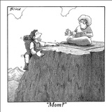 """Mom?"" - New Yorker Cartoon Stretched Canvas Print by Harry Bliss"