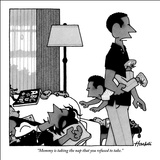 """Mommy is taking the nap that you refused to take."" - New Yorker Cartoon Stretched Canvas Print by William Haefeli"