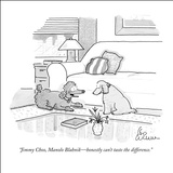 """""""Jimmy Choo, Manolo Blahnik—honestly can't taste the difference."""" - New Yorker Cartoon Stretched Canvas Print by Leo Cullum"""