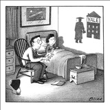 Yale shadow - New Yorker Cartoon Stretched Canvas Print by Harry Bliss