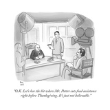 """O.K. Let's lose the bit where Mr. Potter cuts food assistance  right bef…"" - Cartoon Giclee Print by Paul Noth"
