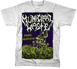 Municipal Waste - Massive Aggressive on White T-Shirt