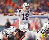 Peyton Manning Super Bowl XLI Calling Play (13) Photo