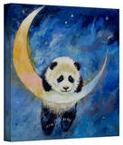 Michael Creese 'Panda Stars' Gallery-Wrapped Canvas Stretched Canvas Print by Michael Creese