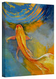 Michael Creese 'Butterfly Koi' Gallery-Wrapped Canvas Stretched Canvas Print by Michael Creese