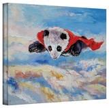 Michael Creese 'Panda Superhero' Gallery-Wrapped Canvas Stretched Canvas Print by Michael Creese