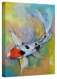 Michael Creese 'Maruten Butterfly Koi' Gallery-Wrapped Canvas Gallery Wrapped Canvas by Michael Creese
