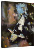 Michael Creese 'Utsuri Koi Reflections' Gallery-Wrapped Canvas Stretched Canvas Print by Michael Creese