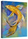 Michael Creese 'Orenji Butterfly Koi' Gallery-Wrapped Canvas Stretched Canvas Print by Michael Creese