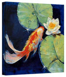 Michael Creese 'Koi and White Lily' Gallery-Wrapped Canvas Gallery Wrapped Canvas by Michael Creese