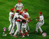 The Philadelphia Phillies celebrating Game Five of the 2008 NLCS Photo