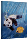 Michael Creese 'Panda Diver' Gallery-Wrapped Canvas Stretched Canvas Print by Michael Creese