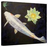 Michael Creese 'Platinum Ogon Koi' Gallery-Wrapped Canvas Gallery Wrapped Canvas by Michael Creese