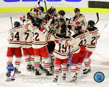 The New York Rangers Celebrate Winning the 2012 NHL Winter Classic Photo