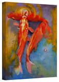 Michael Creese 'Koi Bubbles' Gallery-Wrapped Canvas Stretched Canvas Print by Michael Creese