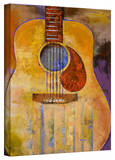 Michael Creese 'Acoustic Guitar' Gallery-Wrapped Canvas Stretched Canvas Print by Michael Creese