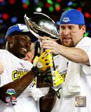 Santonio Holmes & Ben Roethlisberger SuperBowl XLIII With Lombardi Trophy Photo