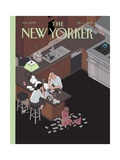 Discovering America - The New Yorker Cover, October 11, 2010 Regular Giclee Print by Chris Ware