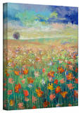 Michael Creese 'Dancing Poppies' Gallery-Wrapped Canvas Stretched Canvas Print by Michael Creese