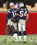 Tom Brady & Tedy Bruschi - 2004-2005 Patriots AFC Division Playoff Game Photo