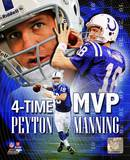 Peyton Manning 4 X MVP Portrait Plus Photo